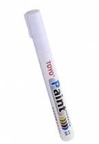 Маркер краска по металлу белый SA101